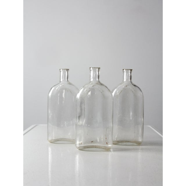 Farmhouse Antique Pyrex Apothecary Bottle Collection - - Set of3 For Sale - Image 3 of 9