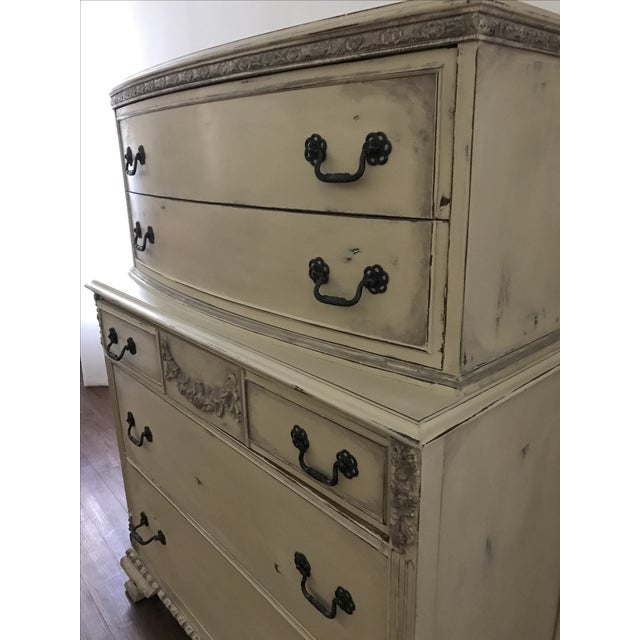 Country Grey French Tall Dresser - Image 8 of 8