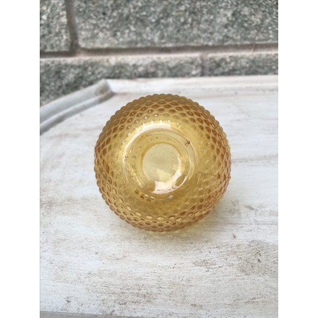 Vintage Burnt Citrine Hobnail Bud Vase Fall Decor - Image 4 of 6
