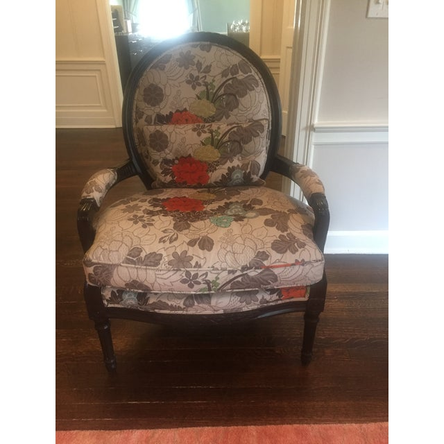 Floral Bergere Arm Chair - Image 3 of 8