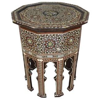 Moorish Inlay Side Table For Sale