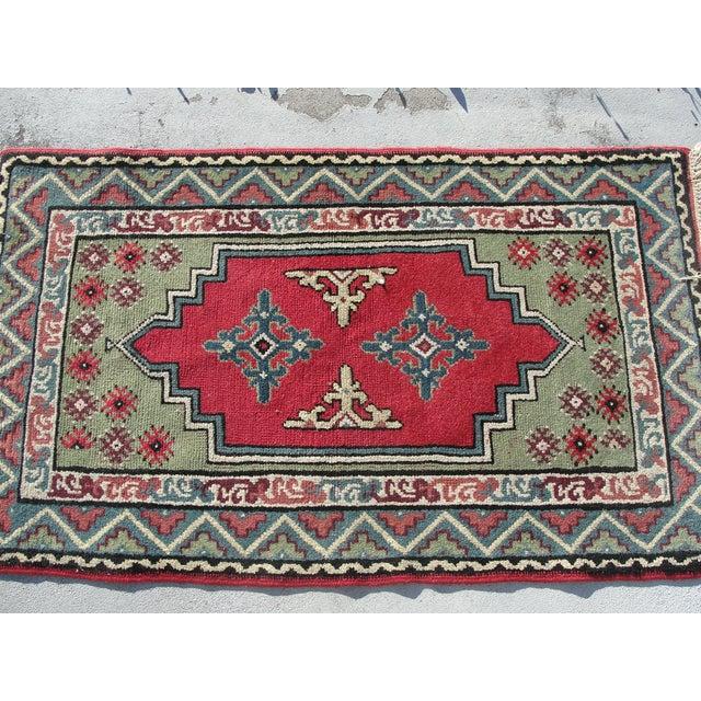"""Turkish Medallion Wool Oriental Rug - 2'3"""" X 4'0"""" - Image 3 of 6"""