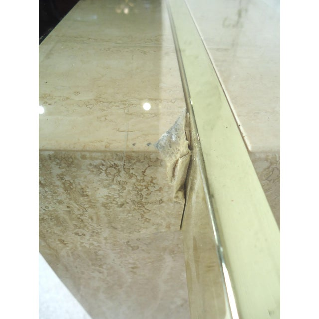 1960s Elegant Travertine Console Table by Artedi For Sale - Image 5 of 9