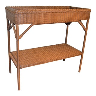 (Last Markdown) Wicker Bar Console (Indoor or Outdoor)