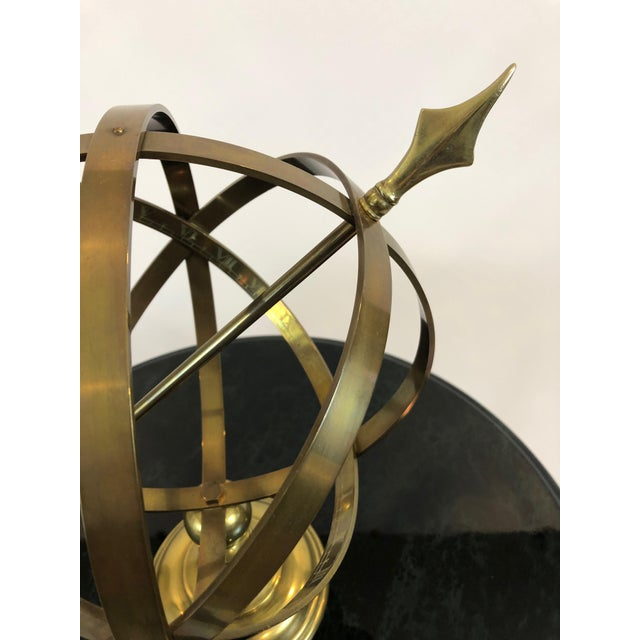 Neoclassical Brass Armillary For Sale - Image 4 of 10