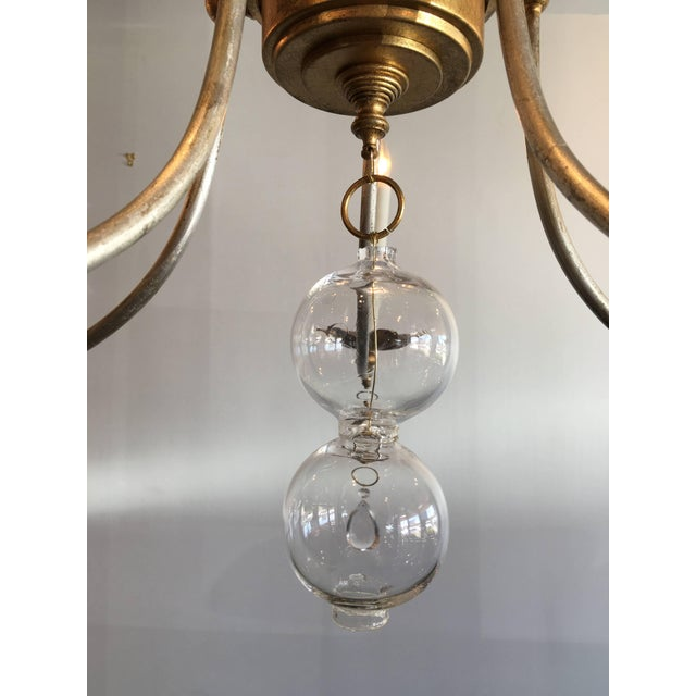 2010s Vintage Murano Glass Chandelier With a Contemporary Twist For Sale - Image 5 of 6