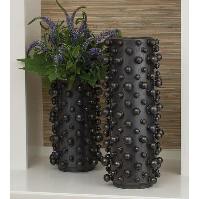 Graphite Molecule Vase By Global Views Chairish