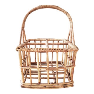 Bamboo Wine / Bottle Carrier Crate For Sale