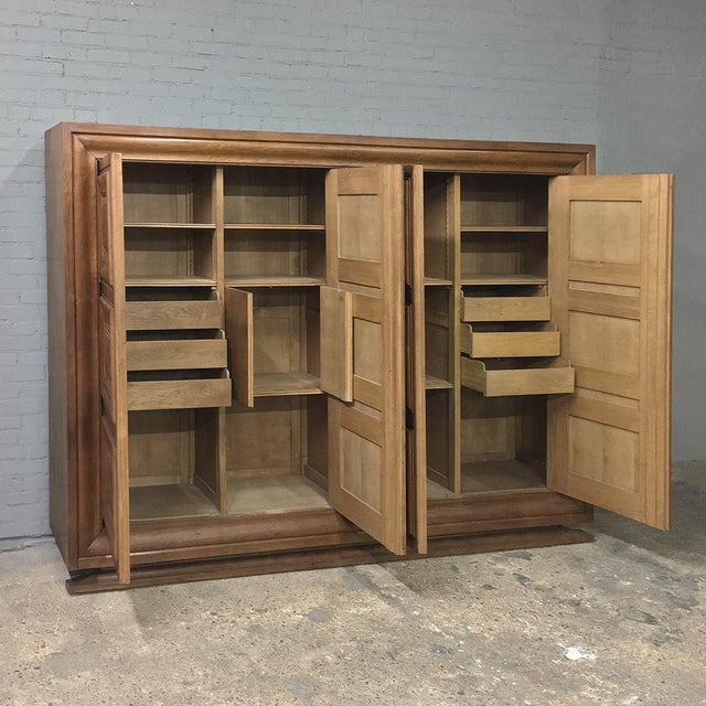 Wood Mid-Century Modern Grand Oak Bookcase For Sale - Image 7 of 11