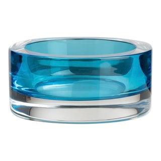 1970s Cenedese Murano Turquoise Art Glass Bowl Designed by Antonio Da Ros For Sale