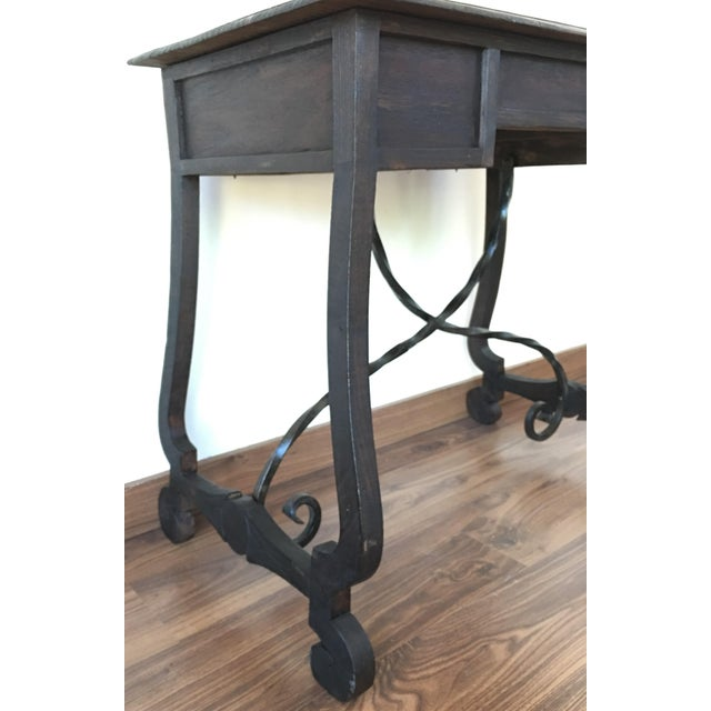 Exceptional Spanish 19th century side table with three drawers - Image 7 of 10