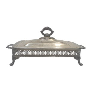 Silver-plated Ornate Baroque Lidded Serving Dish