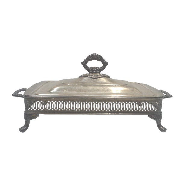 Silver-plated Ornate Baroque Lidded Serving Dish - Image 1 of 8