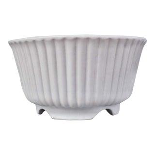 Mid-Century Modern Matte White Hull Pottery Planter For Sale