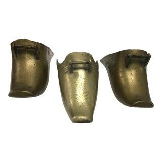 19th Century Spanish Colonial Conquistador Brass Stirrups, Set of Three For Sale