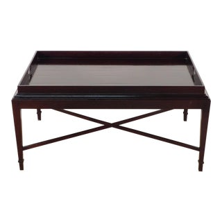 Barbara Barry for Baker Furniture Company Java Finish Coffee Table For Sale
