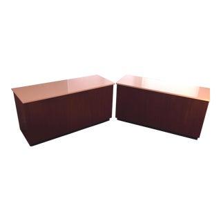 Custom 8-Drawer 1960s Mid-Century Mahogany Dressers - a Pair