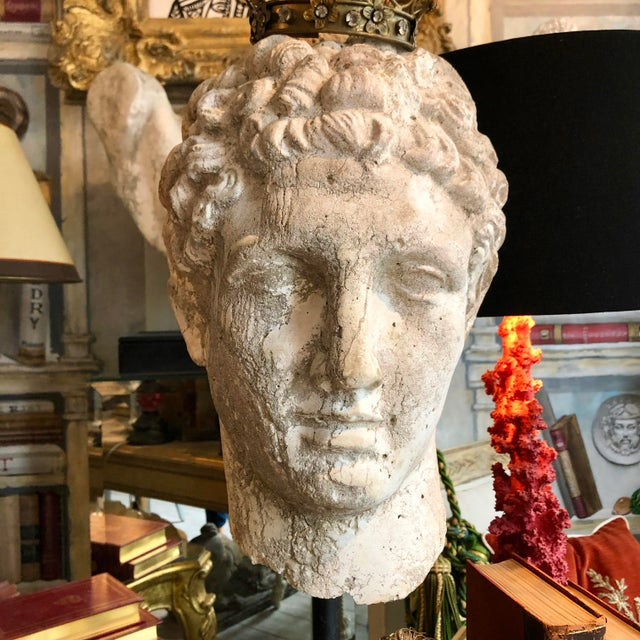 1930s Greek Mid-Century Head of the God Hermes Sculpture For Sale In West Palm - Image 6 of 13
