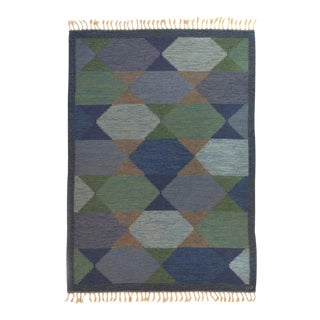 1960s Ulla Parkdal Handwoven Rug for Carlanders- 5′5″ × 8′ For Sale