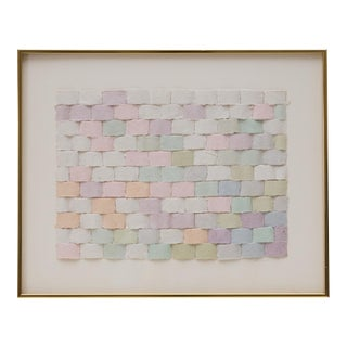 Woven Paper Ribbon Collage Framed Wall Art For Sale