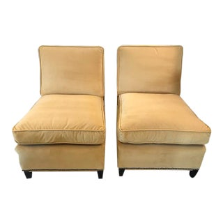 Mid-Century Modern Slipper Chairs - A Pair