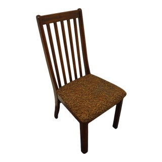 Arcese Brothers Furniture Solid Oak Mission Shaker Style Dining Side Chair For Sale