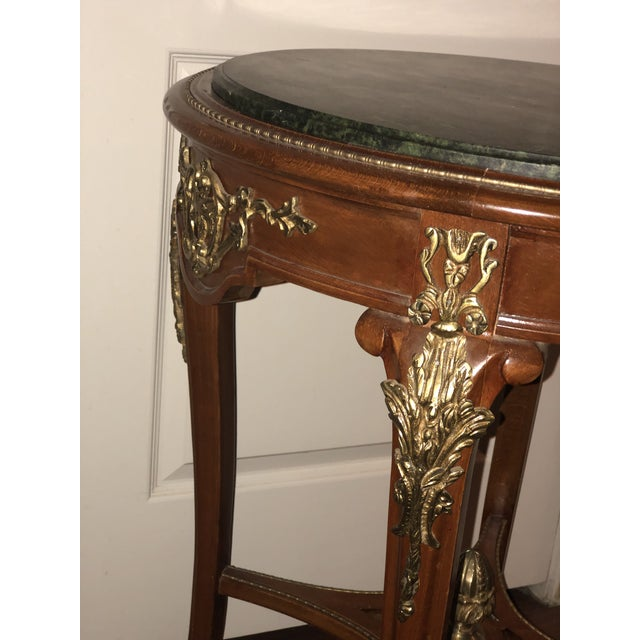 French Ormolu Mounted Side Marble Tables - a Pair For Sale - Image 9 of 13
