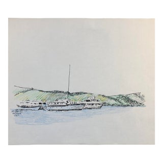 St. James Antigua 1988 by Hayward Cirker For Sale