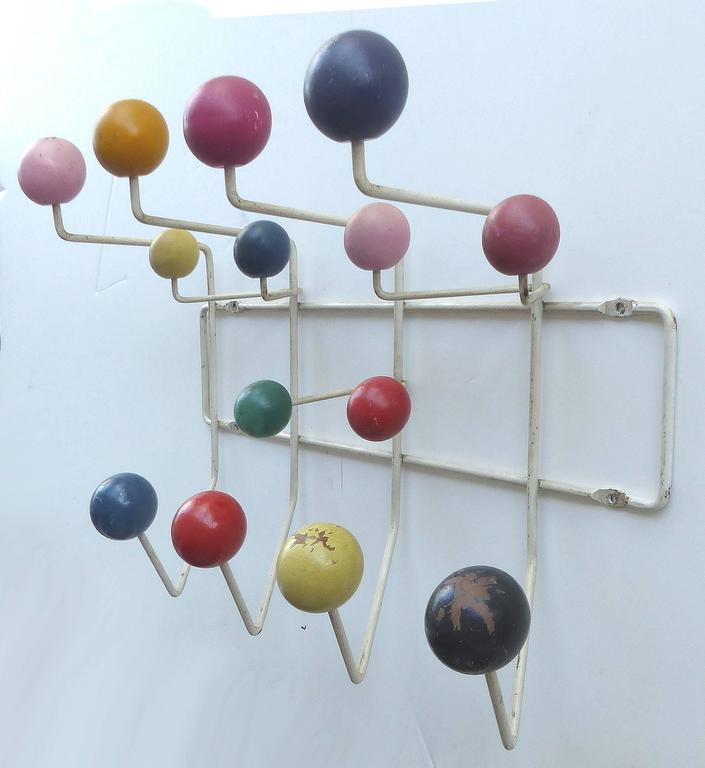 Elegant 1950s Original Eames Hang It All Coat Rack   Image 2 Of 9