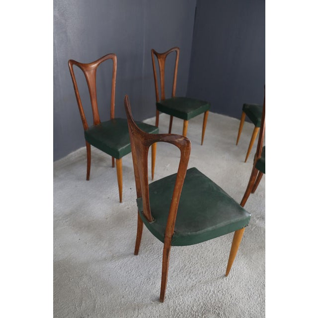 Guglielmo Ulrich 6 Chairs by Guglielmo Ulrich From 1940. For Sale - Image 4 of 5