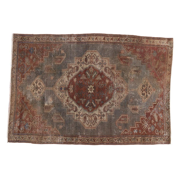 """Vintage Distressed Northwest Persian Rug - 4'3"""" X 6'3"""" For Sale - Image 13 of 13"""