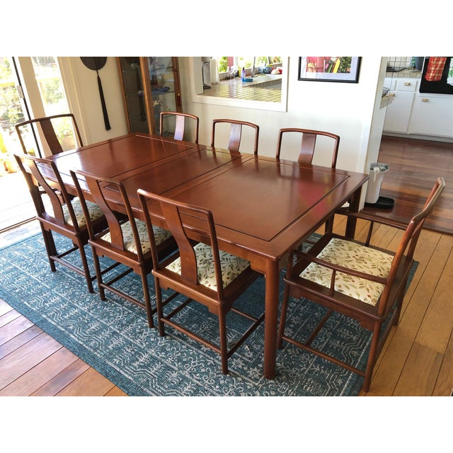 Solid Rosewood Dining Set, Extension Table With 8 Chairs For Sale - Image 9 of 9