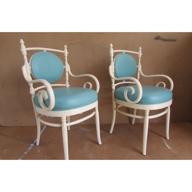 Palm Beach Regency Bentwood Chairs - Pair - Image 3 of 4