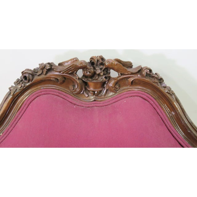 Wood French Walnut Carved Club Chair For Sale - Image 7 of 8