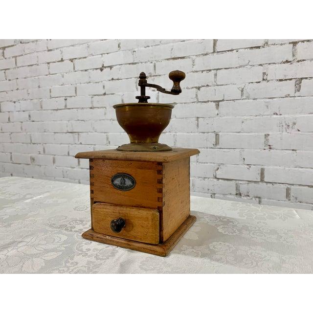 Vintage Wood and Metal Coffee Grinder For Sale - Image 4 of 7
