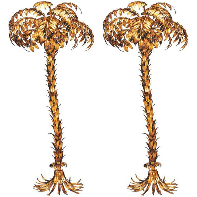 2000 - 2009 Pair of Huge Matched Hans Kögl Palm Tree Floor Lamps For Sale - Image 5 of 5