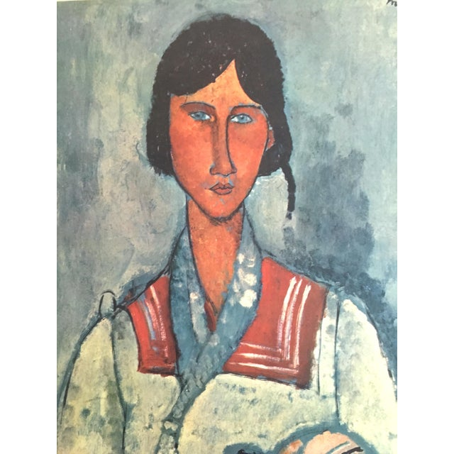 """Amadeo Modigliani Rare Vintage Mid Century Large Lithograph Print """" Gypsy Woman With a Baby """" 1919 For Sale In Kansas City - Image 6 of 10"""