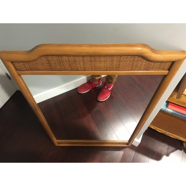 Mid-Century Modern French Indochine Style Mid Century Pier / Console Mirror (4 Ft) For Sale - Image 3 of 12