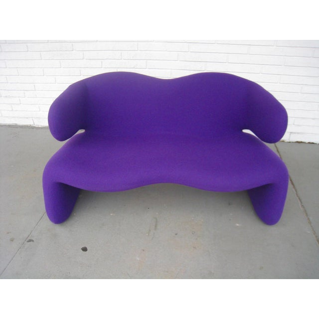 "1966 Olivier Mourgue ""Djinn"" Purple Wool Upholstered Sofa For Sale - Image 11 of 13"