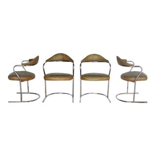 1950s Chrome Round Armchairs - Side of 4