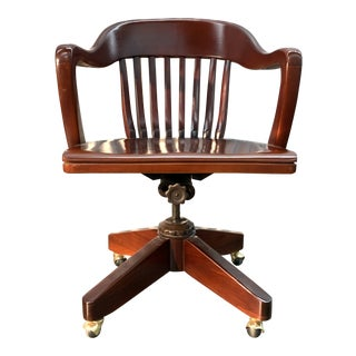 Early 20th Century Antique Captains Chair For Sale