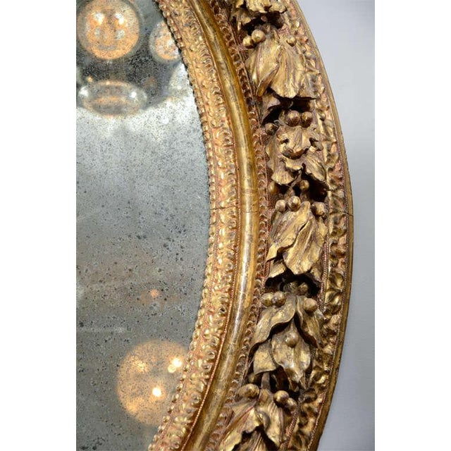 Traditional 19th Century Carved Wood and Gesso Gilt Mirror For Sale - Image 3 of 7