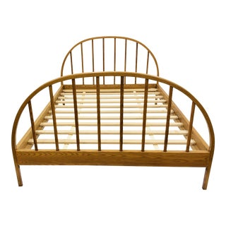 Vintage Mid Century Modern Danish Style Wooden Bed For Sale