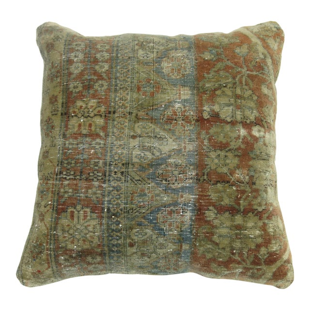 19th century Persian Rug Pillow For Sale