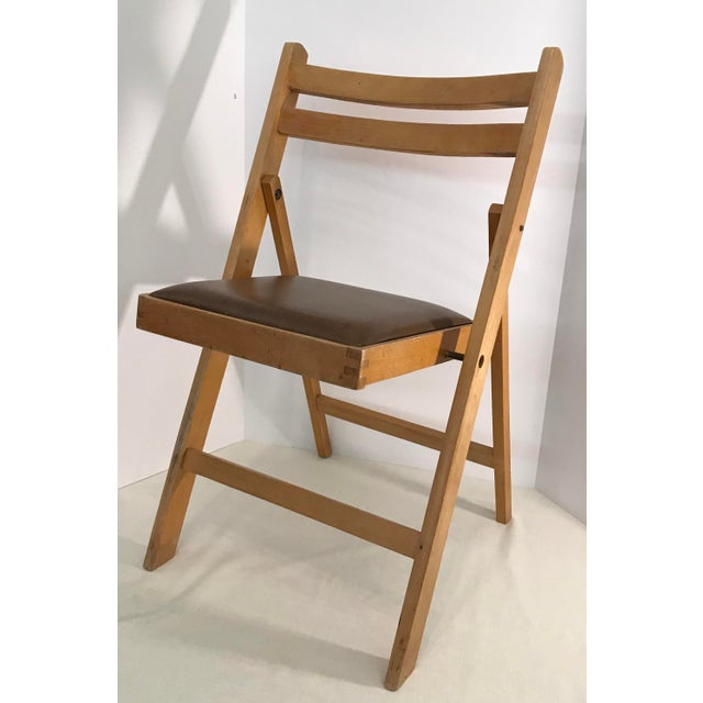 Vintage Wooden Folding Chair Made In Romania