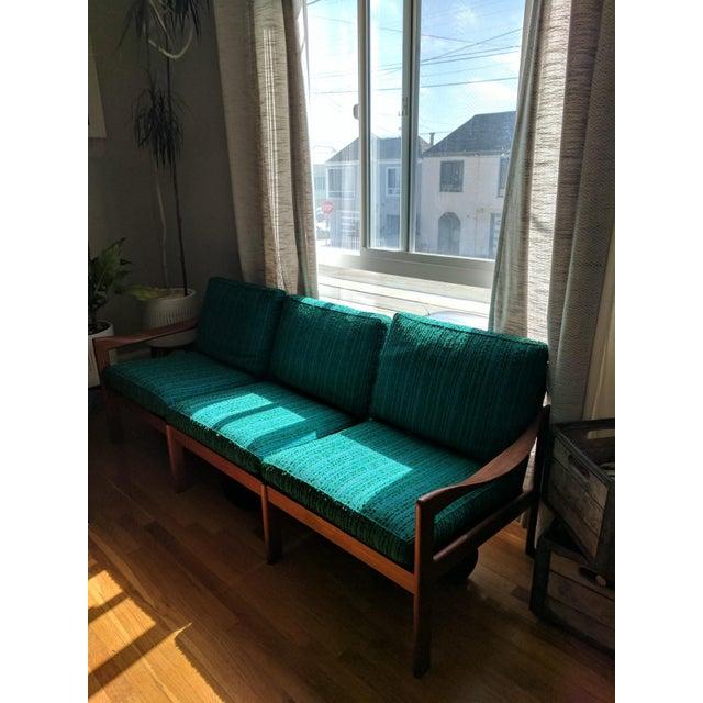 Vintage Modern Danish Teak Parlor Couch - Image 2 of 5