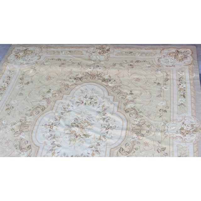 "Vintage French Aubusson Needlepoint Rug - 7' 8"" X 9'11"" - Image 5 of 11"