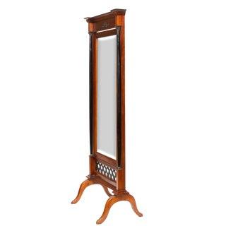 Vintage Biedermeier Cheval Mirror For Sale