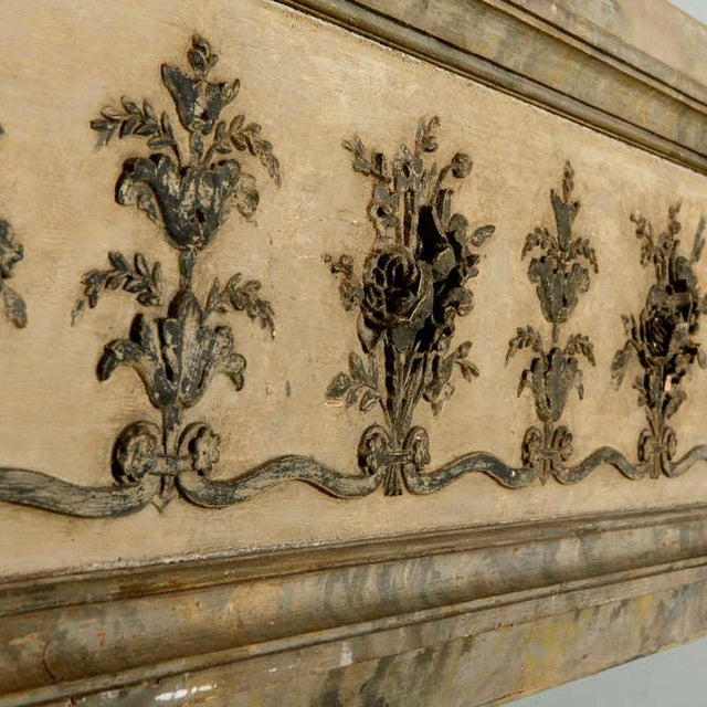 Antique Italian Long Narrow Hand Carved Wood Architectural Piece - Image 4 of 6