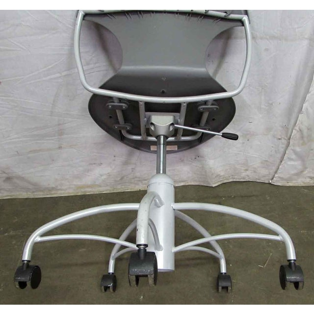 Modern Rolling Office Chair For Sale - Image 6 of 9